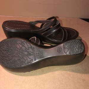Predictions Shoes - Predictions Slip-on Wedge Sandals Size 8 1/2